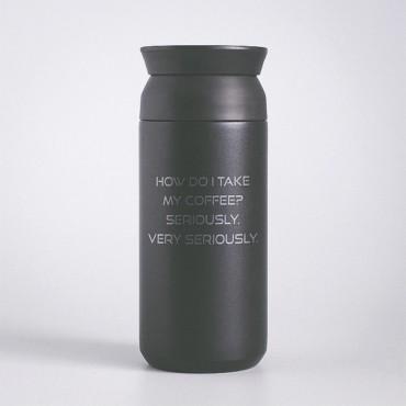 Nerezová termoska na kávu s potiskem /laserové gravírování/ Vašeho motivu, který si sami navrhnete na stránce produktu.