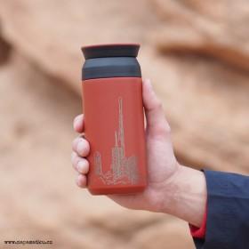 Červený termohrnek na kávu 350 ml s potiskem Vašeho návrhu online na eshopu www.flaski.cz