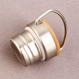Nerezovo bambusový uzávěr na nerezovou termosku na vodu i čaj.